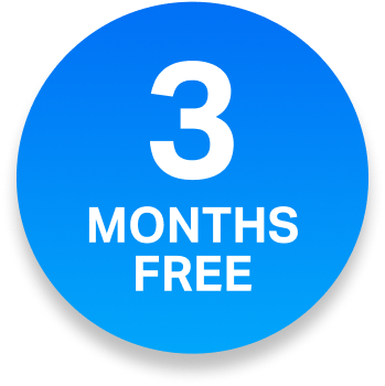 3 months free